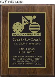Coast to Coast 1200km Award
