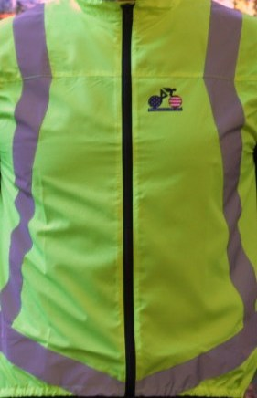 Deluxe Reflective Vest Front Yellow